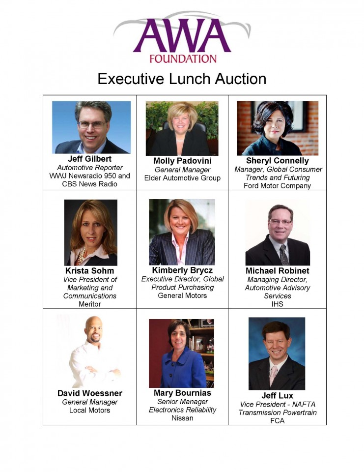 Executive Lunch Participants for Auction