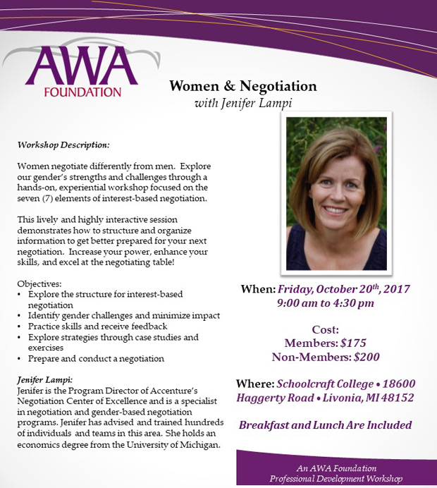 Women and Negotiation Workshop - October 20th
